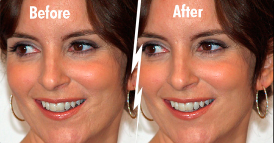 Tina fey photoshop healing and patch tutorial