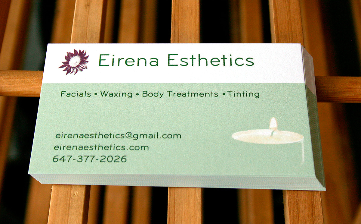 Eirena Esthetics business card